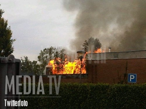 Grote brand in slooppand