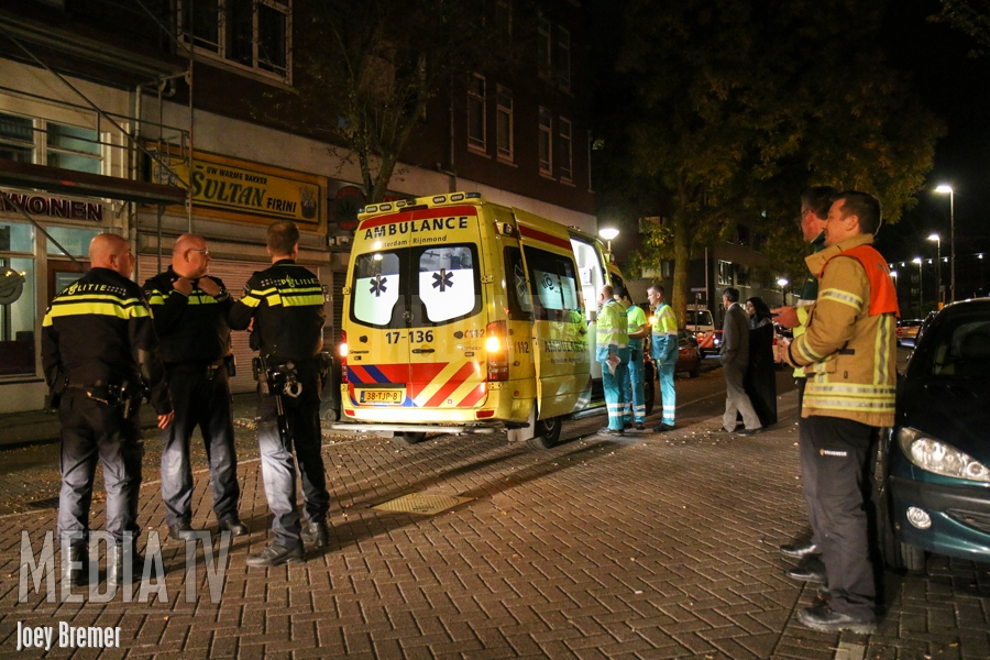 3 personen onwel na CO-vergiftiging defecte geiser Sint-Andriesstraat Rotterdam (video)